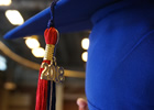 Closeup of graduation cap and tassel