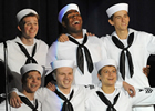 Six HSE students on stage as sailors