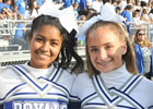 Two HSE cheerleaders smiling